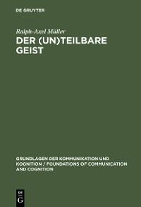 Cover Der (un)teilbare Geist