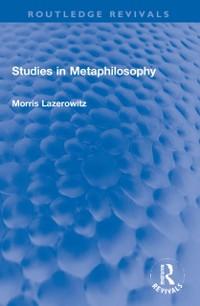 Cover Studies in Metaphilosophy