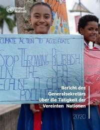 Cover Bericht des Generalsekretärs über die Tätigkeit der Vereinten Nationen (German language)