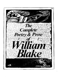 Cover The Complete Works of William Blake