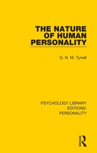 Cover Nature of Human Personality