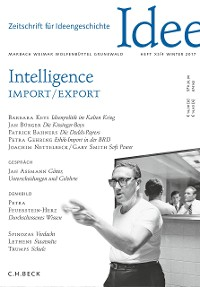 Cover Zeitschrift für Ideengeschichte Heft XI/4 Winter 2017