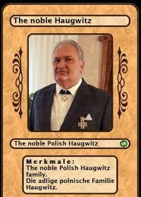 Cover The noble Polish Haugwitz family. Die adlige polnische Familie Haugwitz.