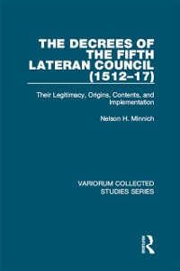 Cover Decrees of the Fifth Lateran Council (1512-17)