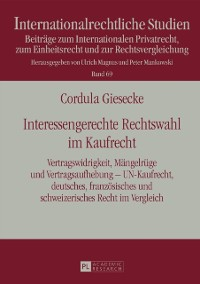 Cover Interessengerechte Rechtswahl im Kaufrecht