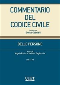 Cover Commentario del codice civile - Delle persone - artt. 11-73
