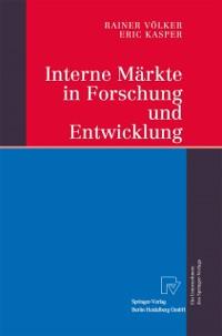 Cover Interne Markte in Forschung und Entwicklung