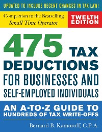 Cover 475 Tax Deductions for Businesses and Self-Employed Individuals