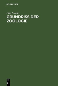 Cover Grundriss der Zoologie