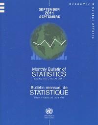 Cover Monthly Bulletin of Statistics, September 2011