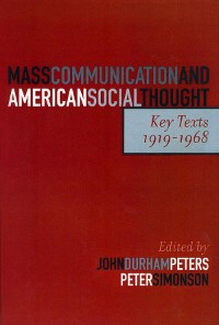 Cover Mass Communication and American Social Thought