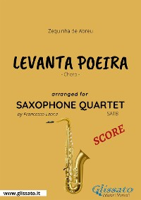 Cover Levanta Poeira - Saxophone Quartet SCORE