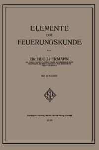 Cover Elemente der Feuerungskunde