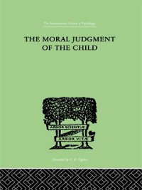 Cover Moral Judgment Of The Child