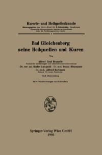 Cover Bad Gleichenberg seine Heilquellen und Kuren