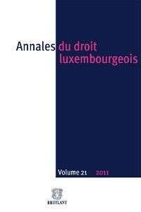 Cover Annales du droit luxembourgeois : Volume 21 – 2011