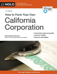 Cover How to Form Your Own California Corporation