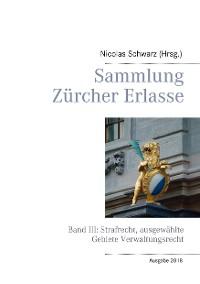 Cover Sammlung Zürcher Erlasse