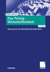 Cover Das Prinzip Wirtschaftlichkeit