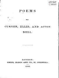 Cover Poems by Currer Bell