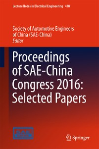 Cover Proceedings of SAE-China Congress 2016: Selected Papers