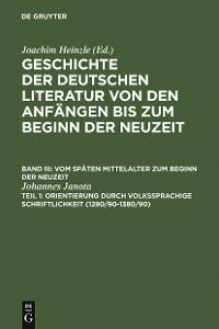 Cover Orientierung durch volkssprachige Schriftlichkeit