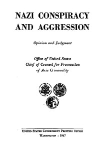 Cover Nazi Conspiracy and Aggression: Opinion and Judgment