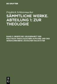 Cover Briefe bei Gelegenheit der politisch theologischen Aufgabe und des Sendschreibens jüdischer Hausväter