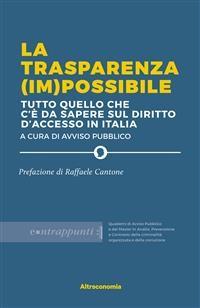 Cover La trasparenza (im)possibile