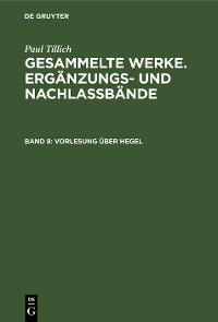 Cover Vorlesung über Hegel