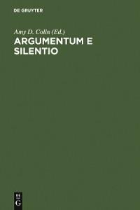 Cover Argumentum e Silentio