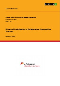 Cover Drivers of Participation in Collaborative Consumption Ventures