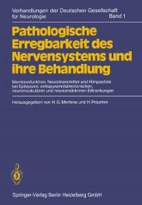 Cover Pathologische Erregbarkeit des Nervensystems und ihre Behandlung