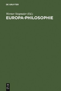 Cover Europa-Philosophie