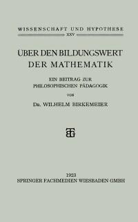 Cover Uber den Bildungswert der Mathematik