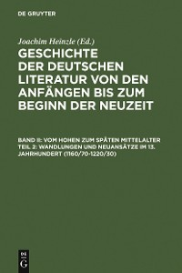Cover Wandlungen und Neuansätze im 13. Jahrhundert