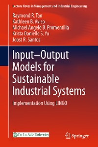 Cover Input-Output Models for Sustainable Industrial Systems