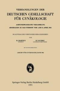 Cover Achtundzwanzigste Versammlung Abgehalten zu Bad Pyrmont vom 4. bis 8. April 1951