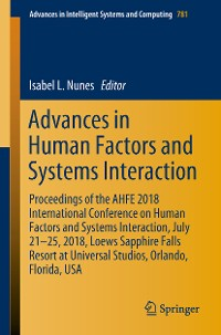 Cover Advances in Human Factors and Systems Interaction