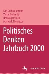 Cover Politisches Denken. Jahrbuch 2000