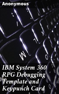 Cover IBM System 360 RPG Debugging Template and Keypunch Card