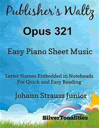 Cover Publisher's Waltz Opus 321 Easy Piano Sheet Music