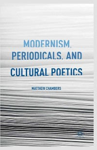 Cover Modernism, Periodicals, and Cultural Poetics