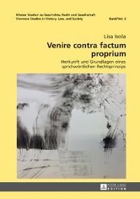 Cover Venire contra factum proprium