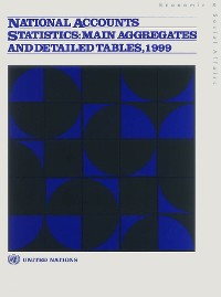 Cover National Accounts Statistics: Main Aggregates and Detailed Tables, 1999