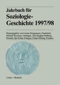Cover Jahrbuch fur Soziologiegeschichte 1997/98