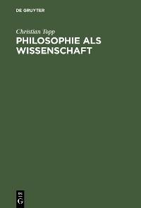 Cover Philosophie als Wissenschaft