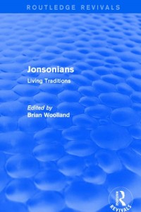 Cover Jonsonians: Living Traditions