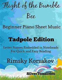 Cover Flight of the Bumble Bee Beginner Piano Sheet Music Tadpole Edition