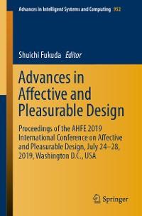 Cover Advances in Affective and Pleasurable Design